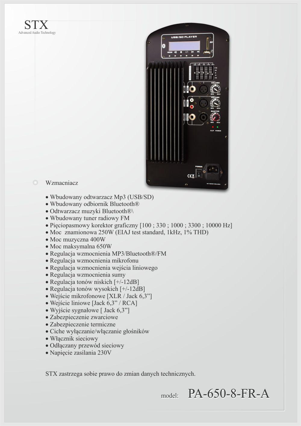 STX PA-650-8-FR-A