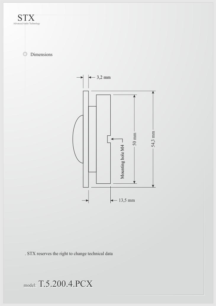 Głośnik samochodowy T.5.200.8.PCX